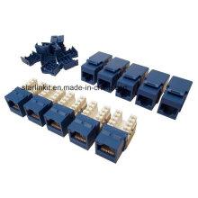 Cat5e UTP Keystone Jack 90 Degree 10PCS Bag Blue
