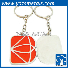 enamel keychain key ring