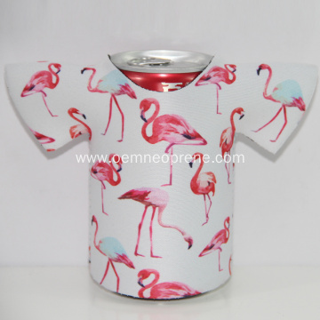 Fashionable Portable Insulated T-shirt Neoprene Can Coolers
