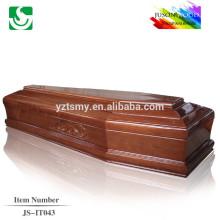 Chineses exportados caixões de madeira artesanato de qualidade estilo Europeu