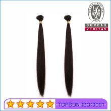Straight Black 16inch Brazilian Human Virgin Remy Hair Extension U-Tip Hair