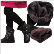 Bébé filles chaudes pantalons / enfants filles robe pantalon avec de la fourrure pour l'hiver