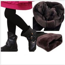 новорожденных девочек теплые брюки/дети девушки брюки с мехом для зимы