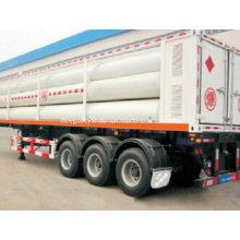 Большие цилиндрические контейнеры Стальные трубы 8 Скид CNG Прицеп CNG Tank