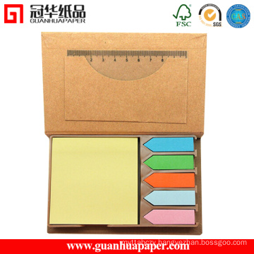 Combined Memo Pad, Sticky Note, Notepad with Ruler