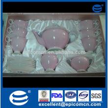 2014 acciones para la promoción de hueso de China de hueso conjunto de té en caja de regalo