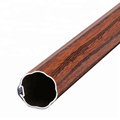 OEM+High+quality+Wood+Color+Aluminum+Curtain+Rod
