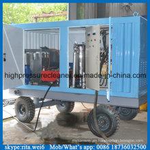 1000bar de alta presión industrial de limpieza de la máquina de voladura húmeda