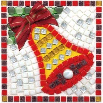 Christmas Glass Mosaic for Interior Decoration