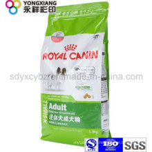 Dimensional Ziplock Pet Food Packaging Bag