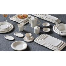Set de vajilla de porcelana para artículos de hotel