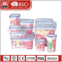 Suppermarket hotsales Food grade transparent 10pieces Plastic storage container