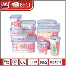 Recipiente de armazenamento plástico suppermarket hotsales alimentos grau transparente 10pieces