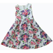 Roupas de moda popular para crianças em crianças menina vestido (sqd-104-roxo)