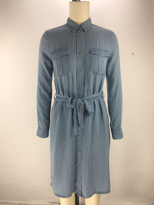 belt ladies shirt dress