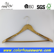 Broad shoulder wooden coat hanger