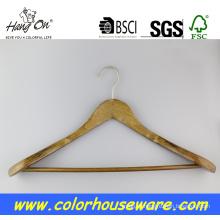 Cabide de madeira de ombro largo