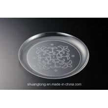 Assiettes en plastique transparent Plats PS Plates Plate-forme Fournisseur / PS Revêtue d'argent / Acrylique en acier inoxydable Revêtue