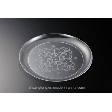 Clear Plastic Plates Dishes PS Plates Tray Supplier /PS Silver Coated/ Stainless Steel Coated