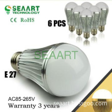 LED Bulb Light E27 with milk cover 110V or 220V 9W 60W Replacement