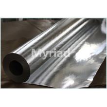 Feuille d'aluminium côté doublé, revêtement double face, revêtement Kraft, isolant thermofusible thermique en aluminium haute qualité