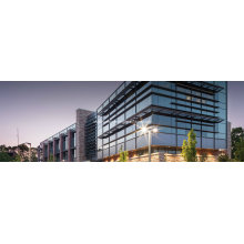 School Architectural Reflective Glass Curtain Wall Systems