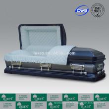 LUXES Style américain cercueils 18ga cercueil métallique avec doublure de cercueil