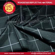 Tecido preto moda reflexiva para jaqueta