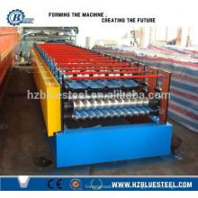 El rodillo de techar de aluminio esmaltado de aluminio de la capa doble del PLC completo automático que forma la máquina para la venta