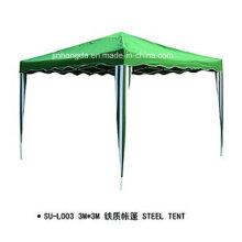 Tienda de marco de acero de toldo de forma cuadrada verde (YSBEA0033)