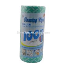 JML 100 feuilles chiffon de nettoyage en microfibre en rouleau