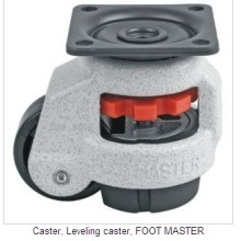 Hot Sale Iso9001 Certificated Long Working Life Foot MesterDC-80F Load capacity 250KGS Leveling Castor