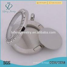 Neue Ankunft 316 Edelstahl 17mm Silber Leere schwimmende Platten Für 25mm runde schwimmende Lockets