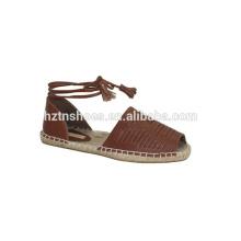 Fashion women summer sandals flat straw sandals espadrille shoes