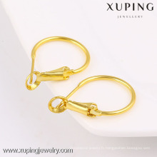 boucles d'oreilles rondes, créoles en or, faux bijoux en or