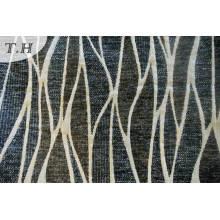 Tela de tapicería de Jacquard Chenille negro (FTH31811)