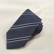 Benutzerdefinierte Schuluniformen Streifen handgemachte Männer Jacquard Seide Krawatte