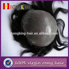 Virgin Hair Super Thin Skin Invisible Knot Hombres Toupee
