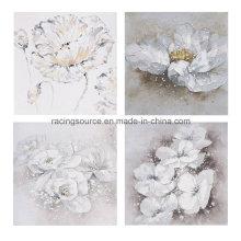 Pintura 100% Mano-Pintada moderna de la lona del aceite de la flor