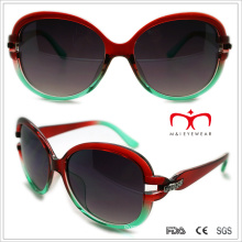 Plastic Ladies Sunglasses with Metal and Rhinestore Decoration (WSP508320)