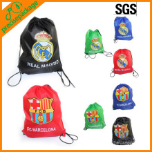 Recycle promotion drawstring backpack bags with custom logo