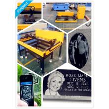 Máquina de grabado de foto de láser de piedra sepulcral para perros Portable Syngood 600 * 900mm 1400 * 1000mm