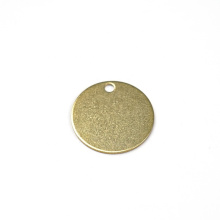 OEM Factory Custom 25mm Round Stamping Polishing Blank Brass Disc for Metal Crafts
