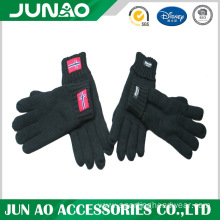 Custom winter embroidered fleece glove