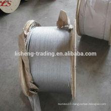 6x19+FC Galvanized steel wire rope for crane