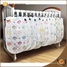 Gasa algodón bebé sueño swaddle suave y transpirable abrigo de bebé