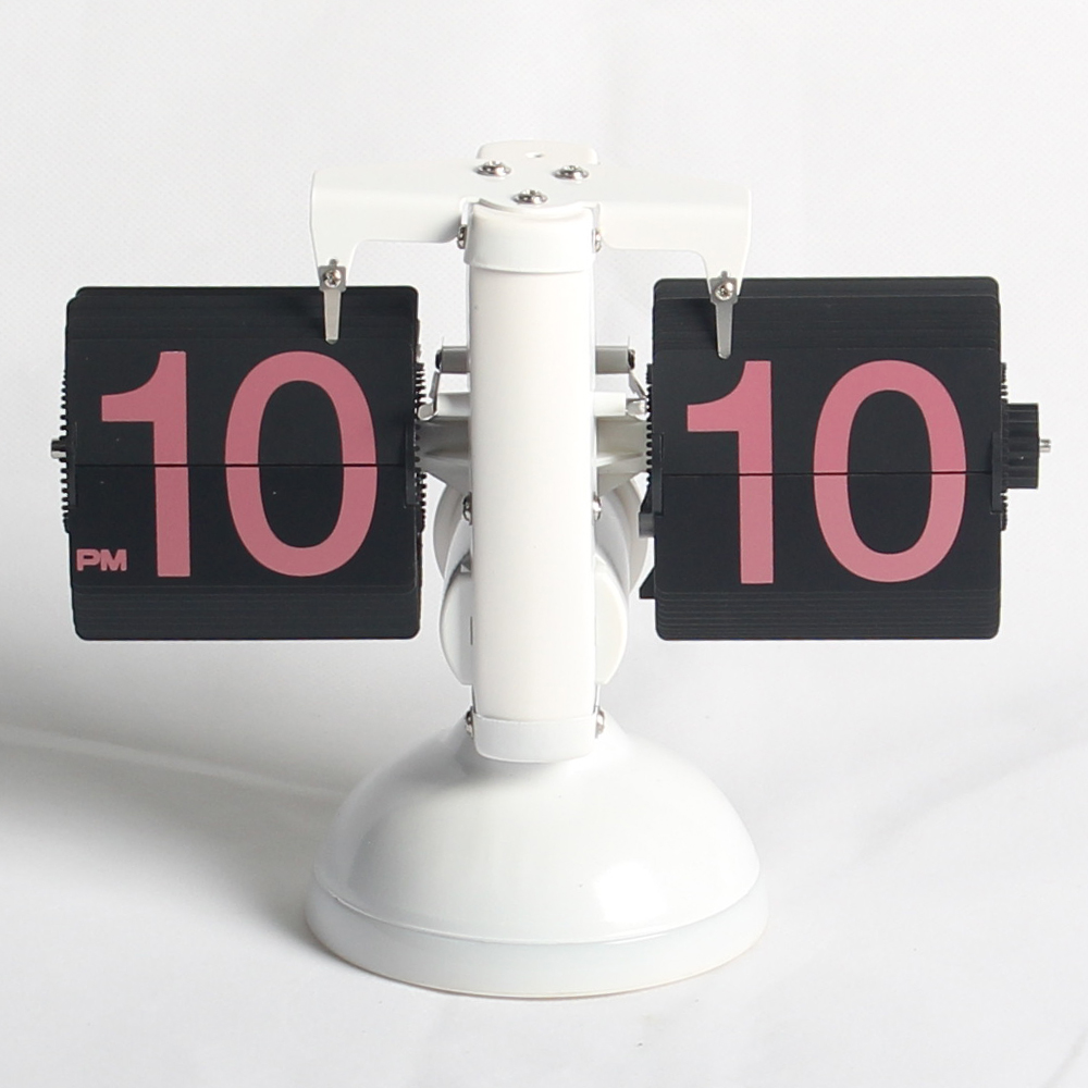 European Flip Desk Clock with Light