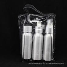 Ensemble de voyage en aluminium, bouteille à bouchon à vis (NTR01)