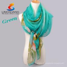 LINGSHANG CDX012 Mädchenkleid neueste Entwurfsart und weisezusätze magischer kühler Chiffon- Schal