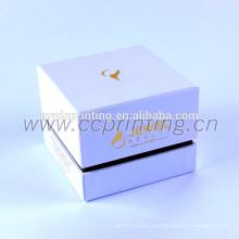 Weiße Farbe Pappe Kosmetische Box mit Teiler für Gläser